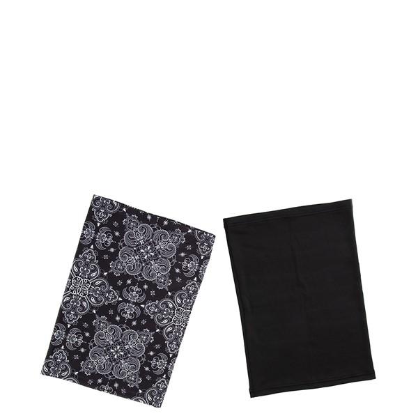 Gaiter Mask 2 Pack - Black Paisley / Black