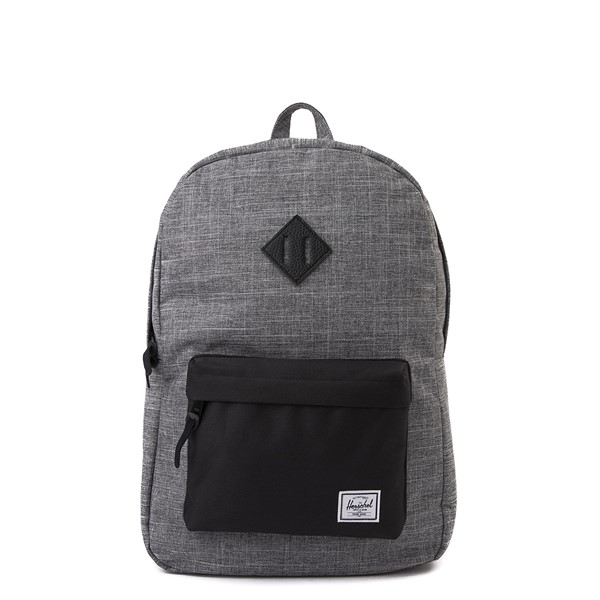 Main view of Herschel Supply Co. Heritage Backpack - Gray Crosshatch / Black