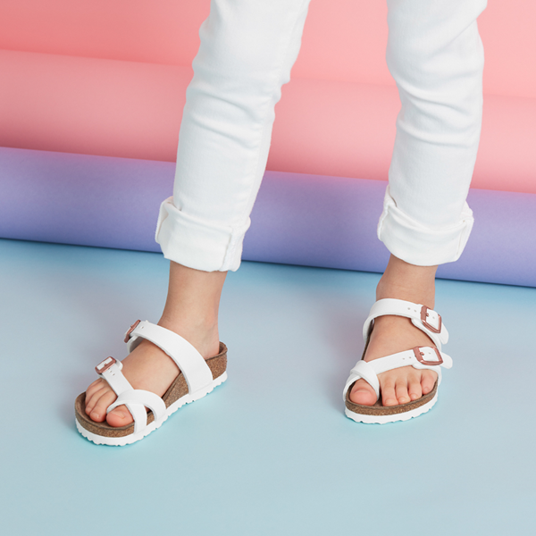 Birkenstock Mayari Sandal -  Little Kid - White