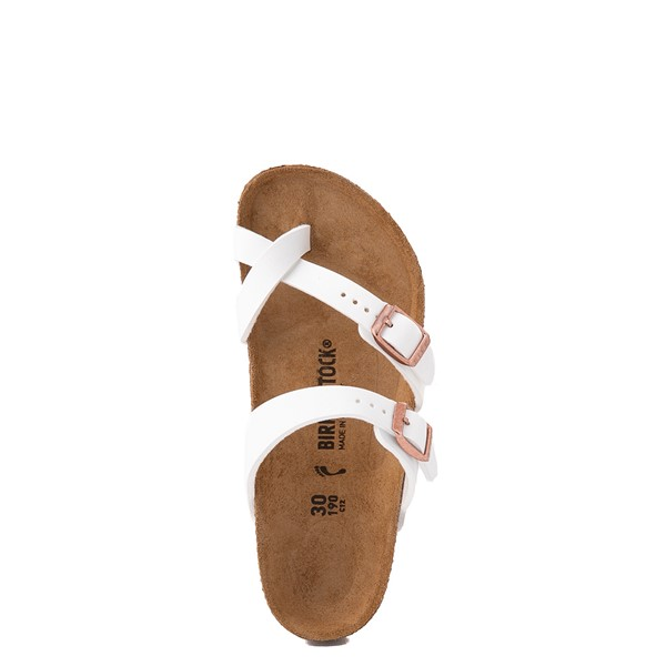 alternate view Birkenstock Mayari Sandal -  Little Kid - WhiteALT4B