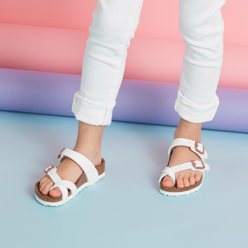 Birkenstock Mayari Sandal -  Little Kid - White
