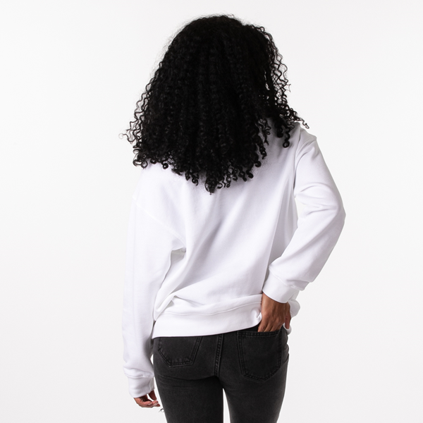 alternate view Womens adidas Trefoil Crew Sweatshirt - WhiteALT4