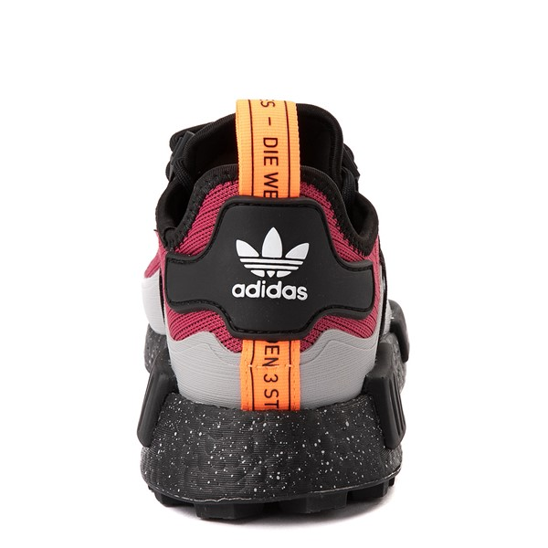 alternate view Mens adidas NMD R1 Trail Athletic Shoe - Wild Pink / Core BlackALT4