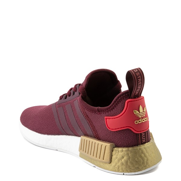 alternate view Womens adidas NMD R1 Athletic Shoe - Maroon / Glory Red / GoldALT1