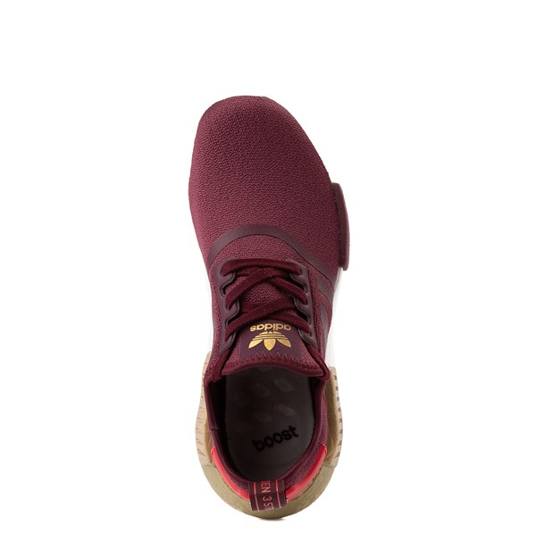 alternate view Womens adidas NMD R1 Athletic Shoe - Maroon / Glory Red / GoldALT2