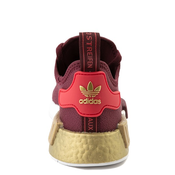 alternate view Womens adidas NMD R1 Athletic Shoe - Maroon / Glory Red / GoldALT4