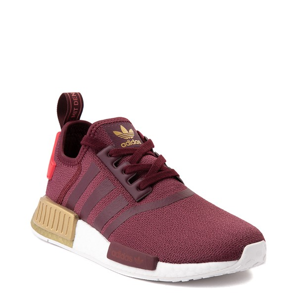 alternate view Womens adidas NMD R1 Athletic Shoe - Maroon / Glory Red / GoldALT5