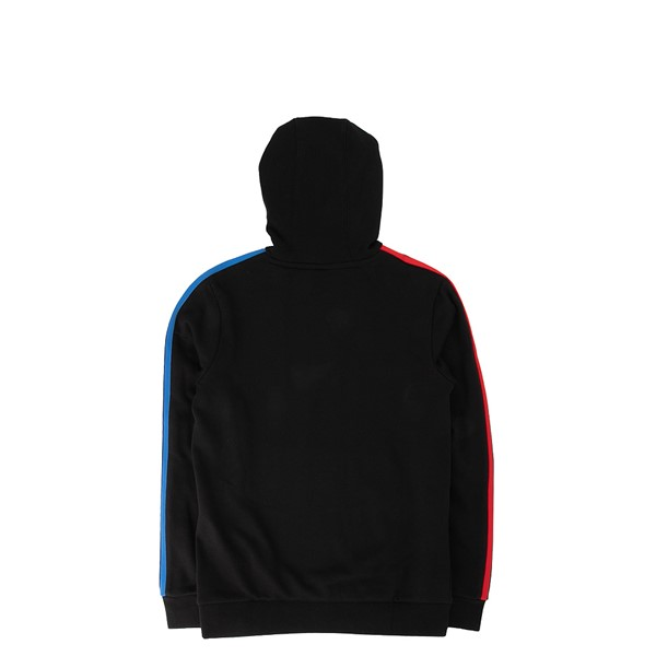alternate view adidas Adicolor Tricolor Hoodie - Little Kid / Big Kid - BlackALT1