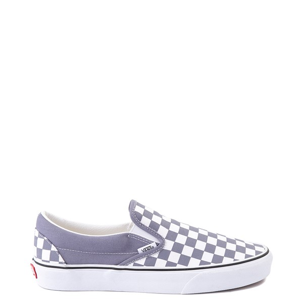 Main view of Vans Slip On Checkerboard Skate Shoe - Blue Granite
