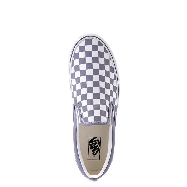 alternate view Vans Slip On Checkerboard Skate Shoe - Blue GraniteALT2