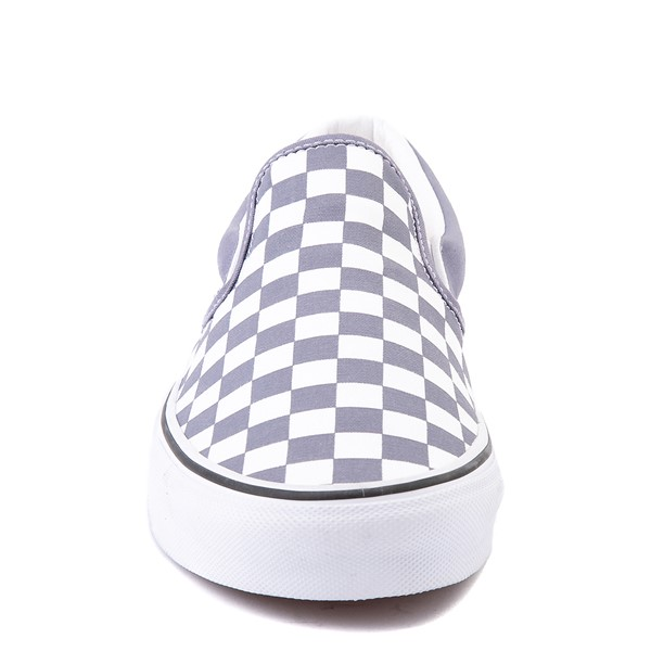 alternate view Vans Slip On Checkerboard Skate Shoe - Blue GraniteALT4