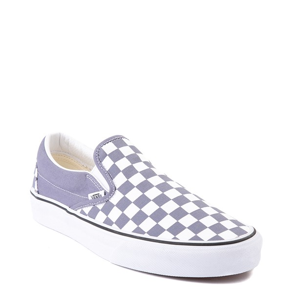 alternate view Vans Slip On Checkerboard Skate Shoe - Blue GraniteALT5