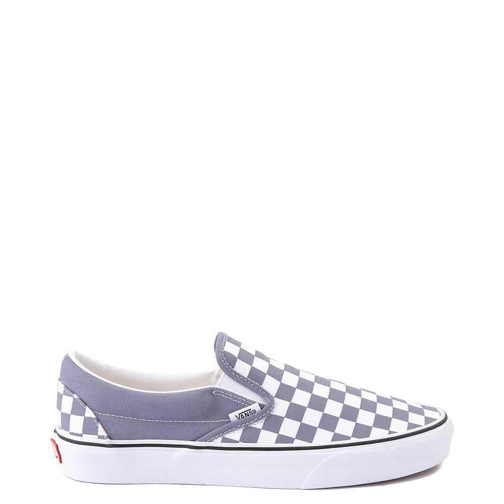 Vans Slip On Checkerboard Skate Shoe - Blue Granite