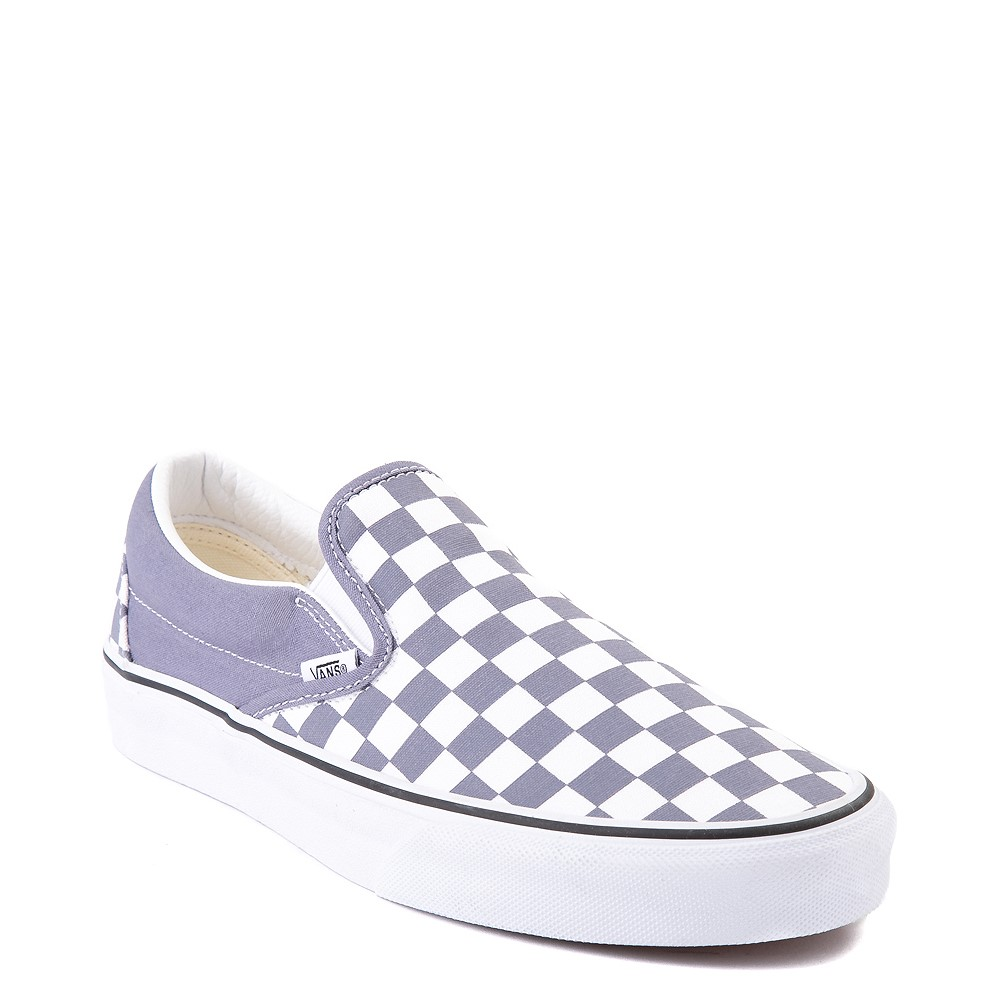 Vans Slip On Checkerboard Skate Shoe - Blue Granite