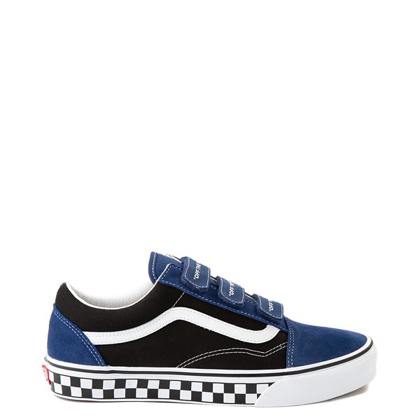 Vans Old Skool V Logo Pop Skate Shoe - Black / Estate Blue