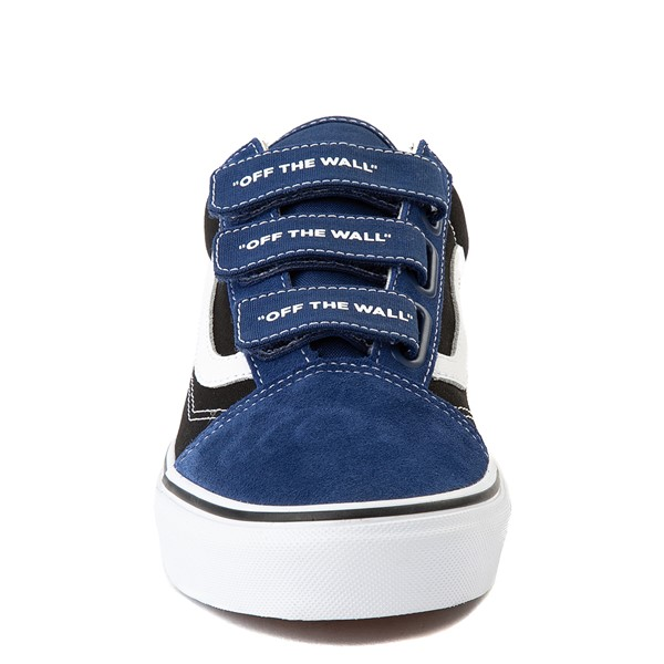 alternate view Vans Old Skool V Logo Pop Skate Shoe - Black / Estate BlueALT4