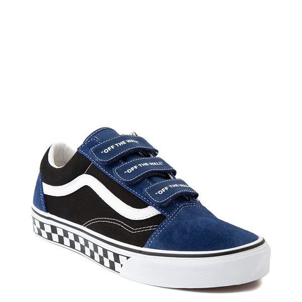 alternate view Vans Old Skool V Logo Pop Skate Shoe - Black / Estate BlueALT5