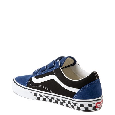 Alternate view of Vans Old Skool V Logo Pop Skate Shoe - Black / Estate Blue