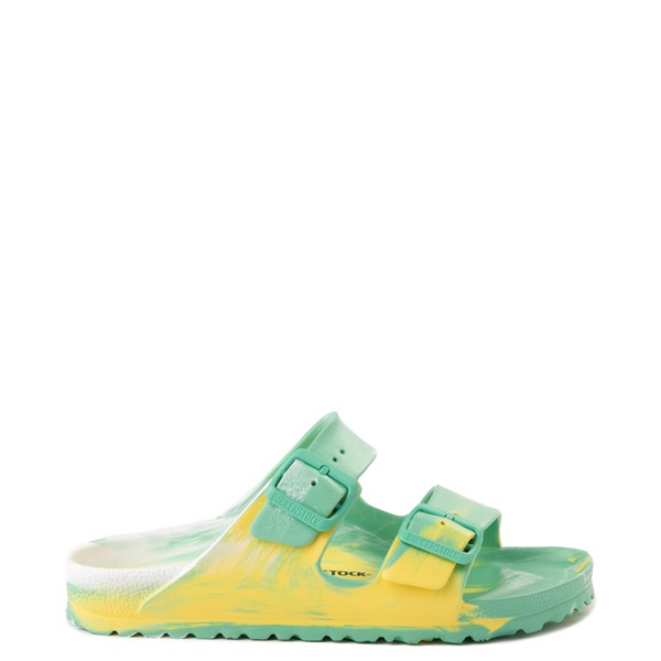 Main view of Womens Birkenstock Arizona EVA Sandal - Marbled Jade / Yellow