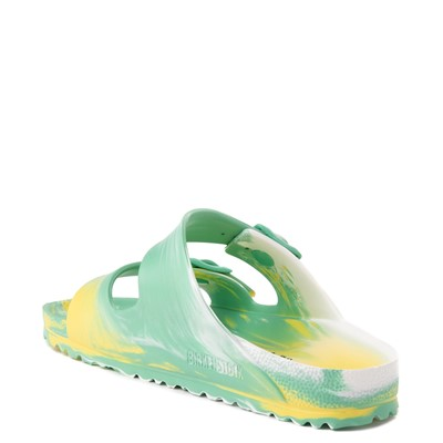 Alternate view of Womens Birkenstock Arizona EVA Sandal - Marbled Jade / Yellow