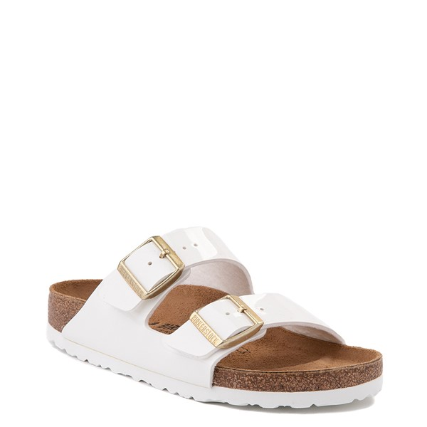 alternate view Womens Birkenstock Patent Arizona Sandal - WhiteALT5