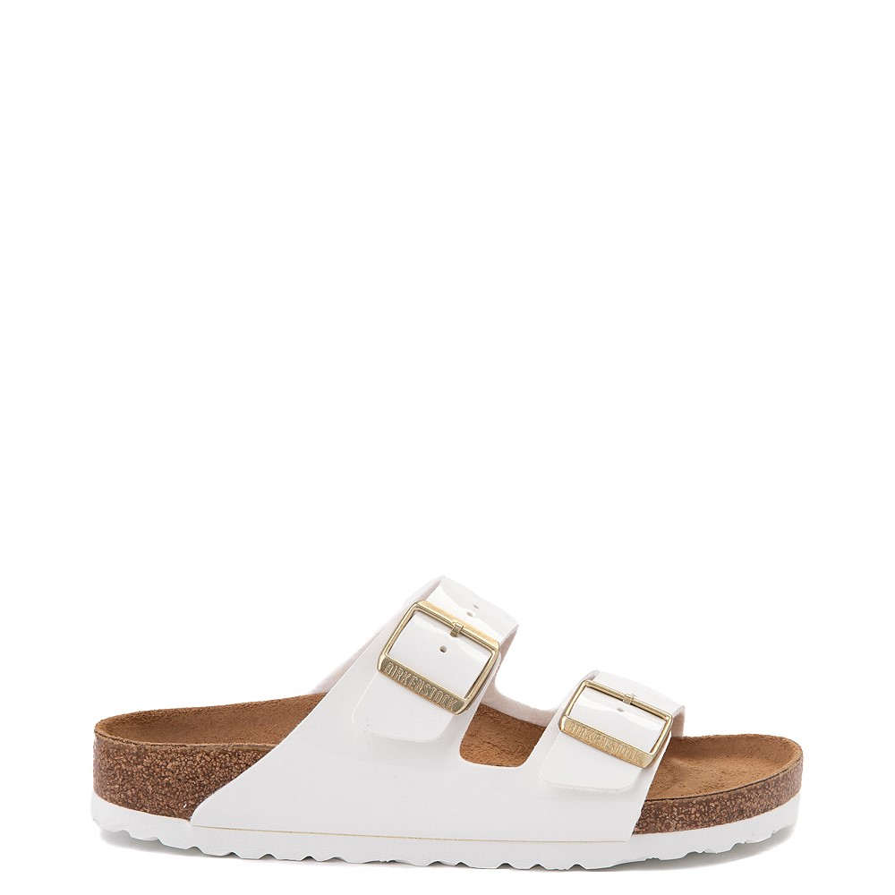 Womens Birkenstock Patent Arizona Sandal - White