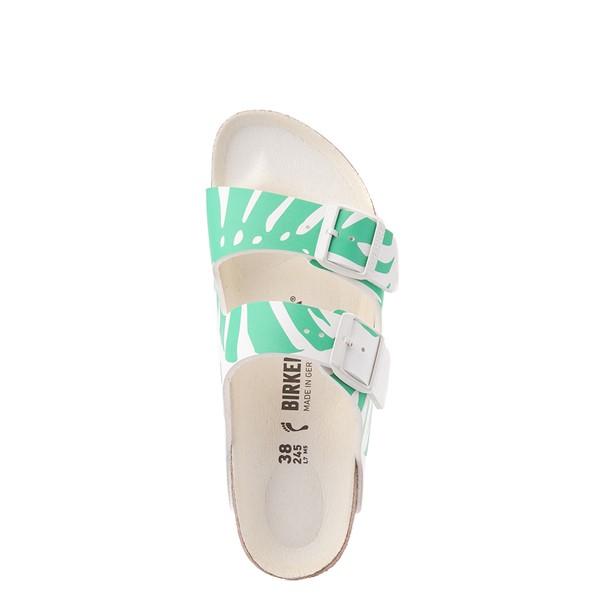 alternate view Womens Birkenstock Arizona Split Sandal - Monstera White / Bold JadeALT2