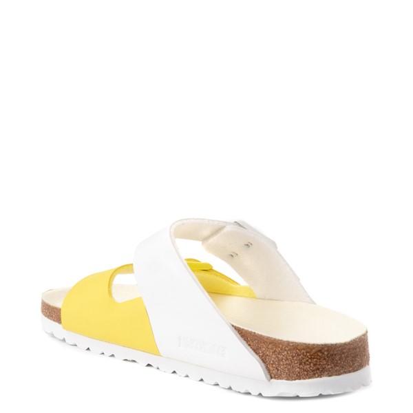 alternate view Womens Birkenstock Arizona Split Sandal - White / Lime SourALT1