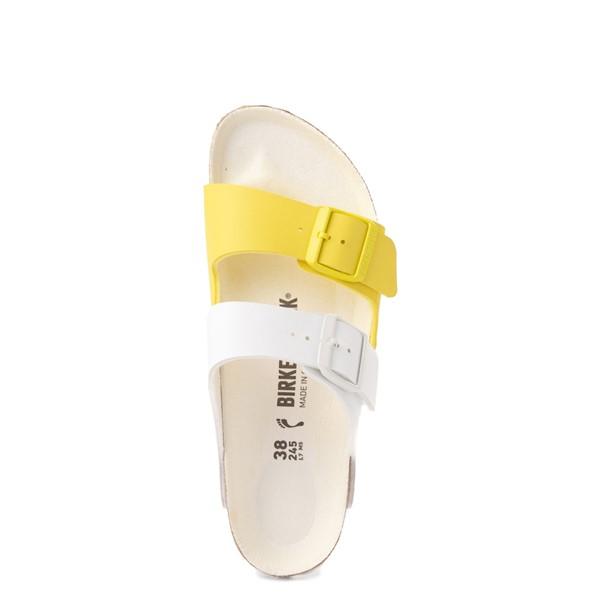 alternate view Womens Birkenstock Arizona Split Sandal - White / Lime SourALT2