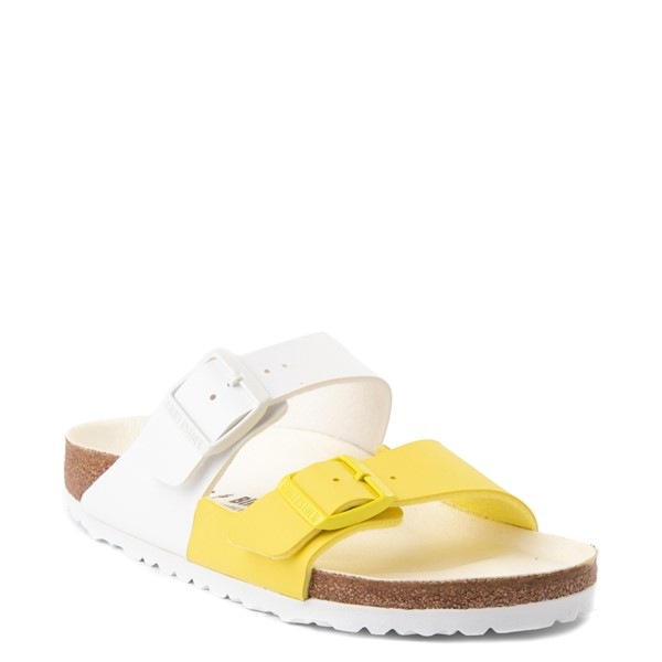 alternate view Womens Birkenstock Arizona Split Sandal - White / Lime SourALT5