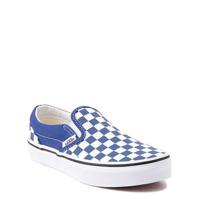 Alternate view of Vans Slip On Checkerboard Skate Shoe - Little Kid - Limoges Blue