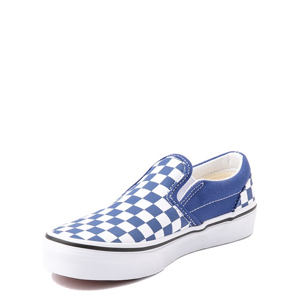 alternate view Vans Slip On Checkerboard Skate Shoe - Big Kid - Limoges BlueALT3