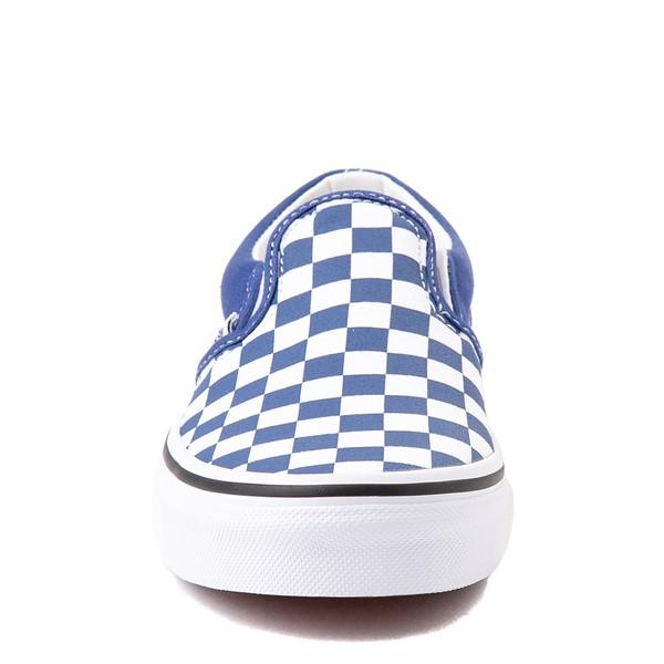 alternate view Vans Slip On Checkerboard Skate Shoe - Big Kid - Limoges BlueALT4