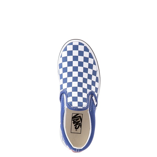 alternate view Vans Slip On Checkerboard Skate Shoe - Big Kid - Limoges BlueALT4B