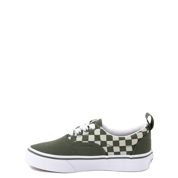 alternate view Vans Era Camo Checkerboard Skate Shoe - Little Kid - Kombu GreenALT1