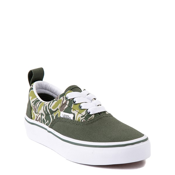 alternate view Vans Era Camo Checkerboard Skate Shoe - Little Kid - Kombu GreenALT5