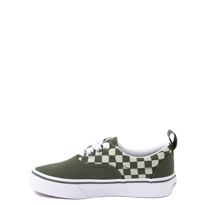 Alternate view of Vans Era Camo Checkerboard Skate Shoe - Little Kid - Kombu Green