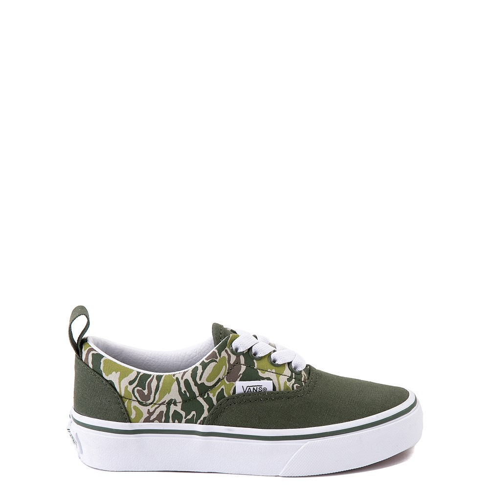 Vans Era Camo Checkerboard Skate Shoe - Little Kid - Kombu Green