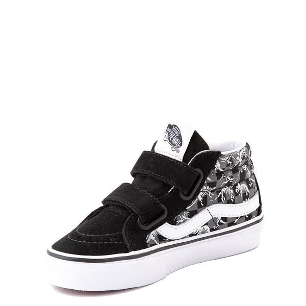 alternate view Vans Sk8 Mid Reissue V Dino Glow Skeleton Skate Shoe - Little Kid - BlackALT3