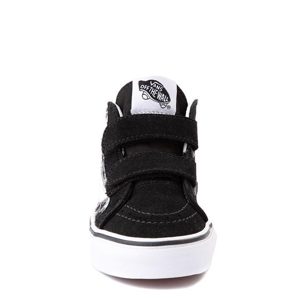alternate view Vans Sk8 Mid Reissue V Dino Glow Skeleton Skate Shoe - Little Kid - BlackALT4
