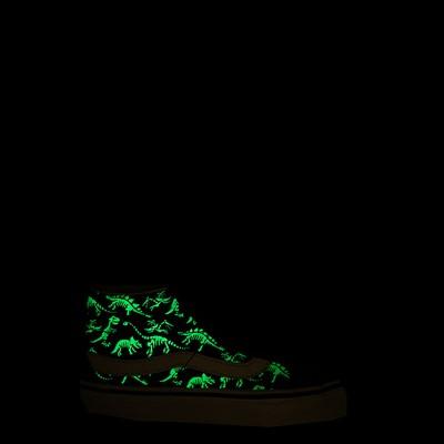 Alternate view of Vans Sk8 Mid Reissue V Dino Glow Skeleton Skate Shoe - Big Kid - Black
