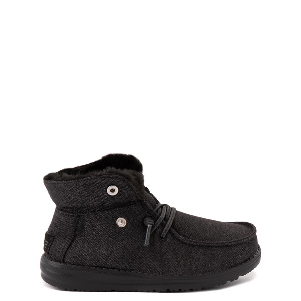 alternate view Hey Dude Britt Casual Shoe - Little Kid / Big Kid - BlackALT1