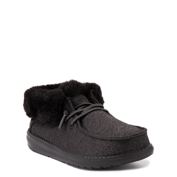 alternate view Hey Dude Britt Casual Shoe - Little Kid / Big Kid - BlackALT5