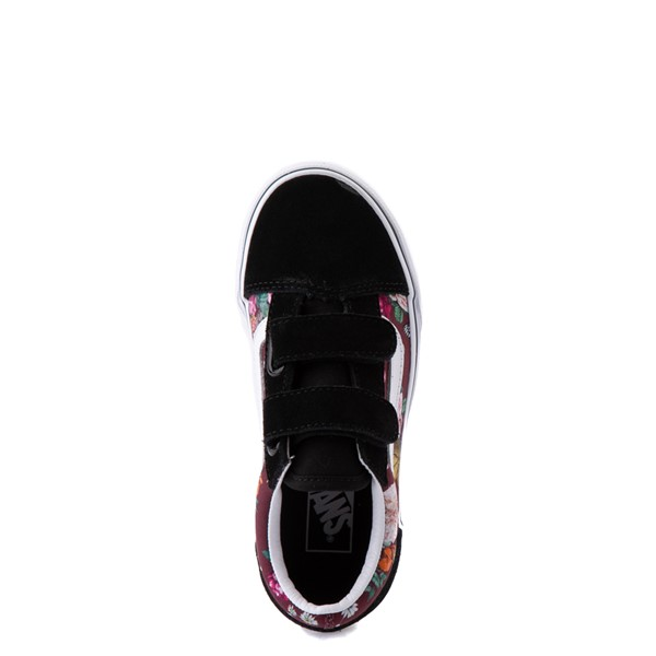 alternate view Vans Old Skool V Butterfly Floral Skate Shoe - Big Kid - Black / Port RoyaleALT2
