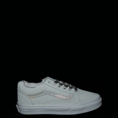 Alternate view of Vans Old Skool Sherpa Skate Shoe - Little Kid - Billowing Sail