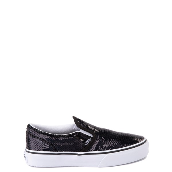 Vans Slip On Micro Sequins Skate Shoe - Little Kid - Black