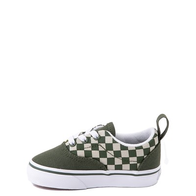 Alternate view of Vans Era Camo Checkerboard Skate Shoe - Baby / Toddler - Kombu Green