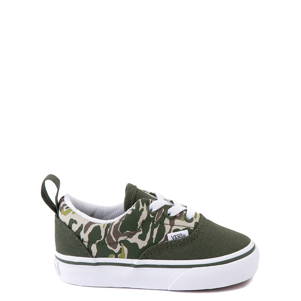Vans Era Camo Checkerboard Skate Shoe - Baby / Toddler - Kombu Green
