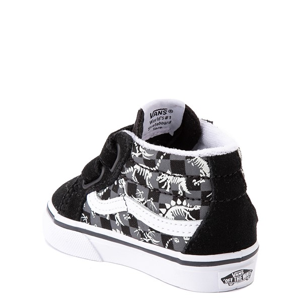 alternate view Vans Sk8 Mid Reissue V Dino Glow Skeleton Skate Shoe - Baby / Toddler - BlackALT2