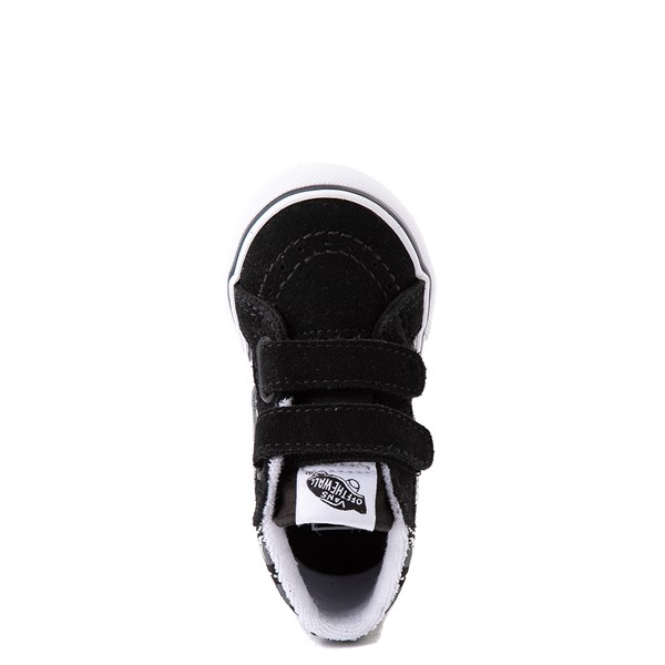 alternate view Vans Sk8 Mid Reissue V Dino Glow Skeleton Skate Shoe - Baby / Toddler - BlackALT4B